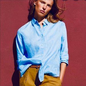 Uniqlo Premium Linen Long Sleeve Button Down XS